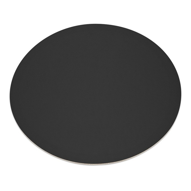 Set De Table Design Rond En Cuir Art De Table Pour Chr En Cuir Noir
