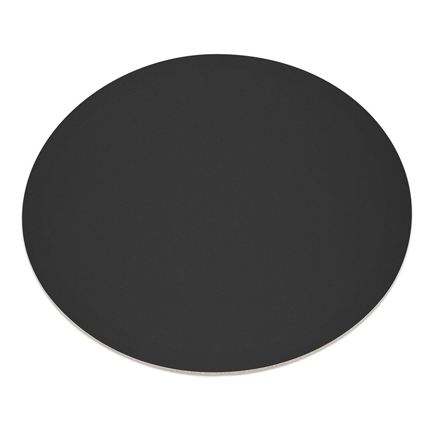 11 sets de table rond Fashion noir aspect lisse