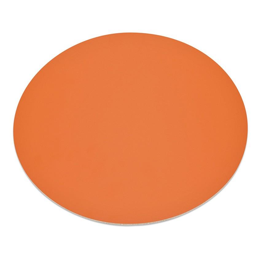 11 sets de table rond Fashion orange aspect lisse