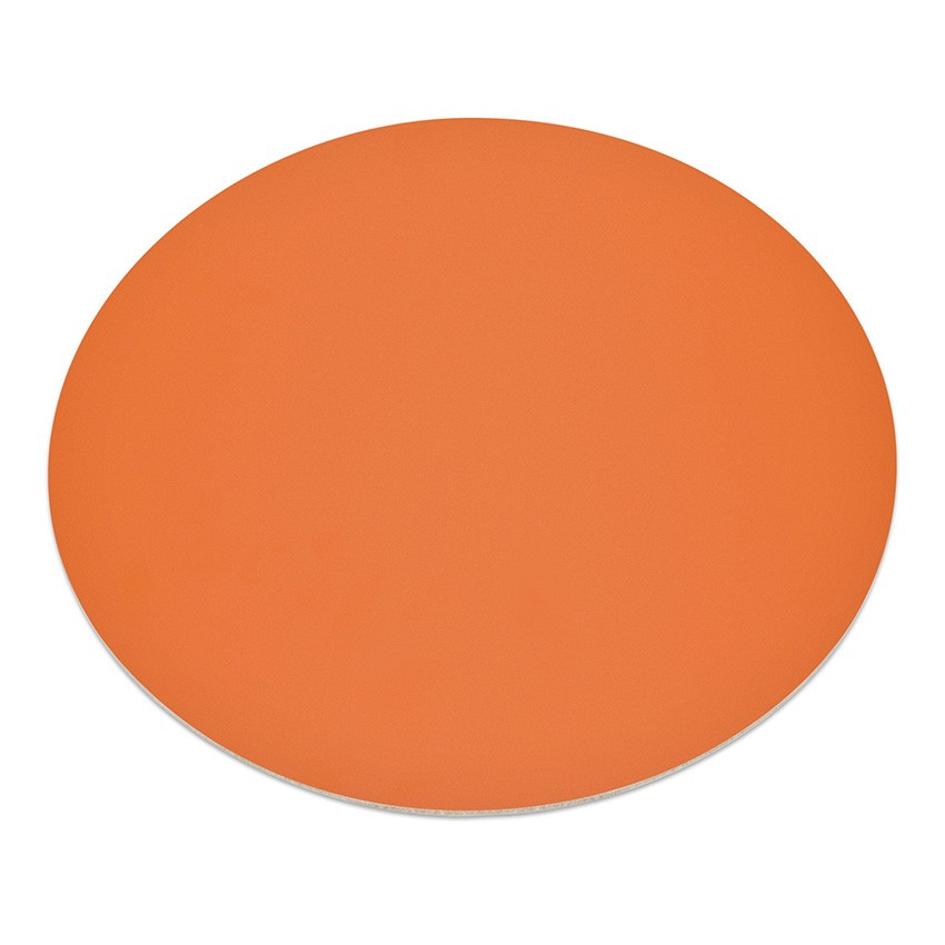 11 sets de table rond Fashion orange aspect lisse