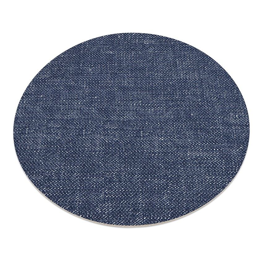 11 sets de table rond PVC bleu aspect jean's
