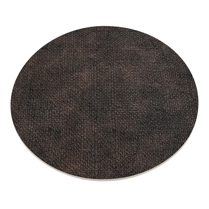 11 sets de table rond PVC Marron aspect jute