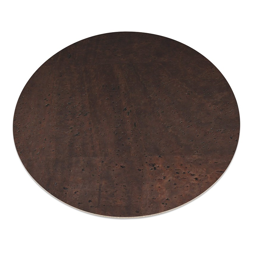 11 sets de table rond en liège marron