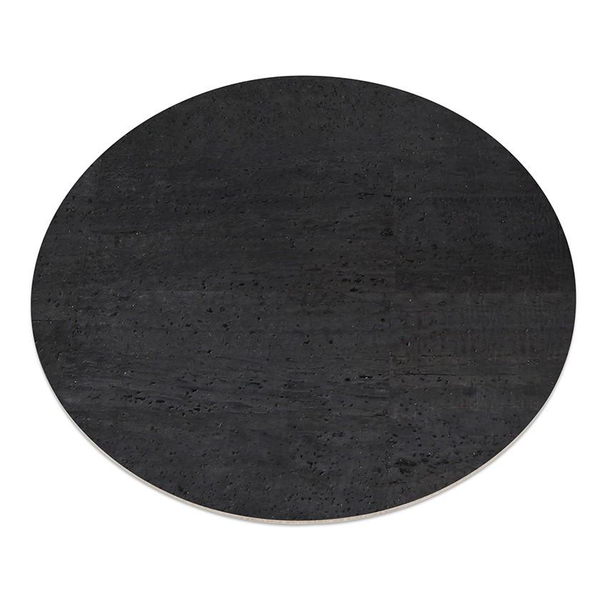 11 sets de table rond en liège noir