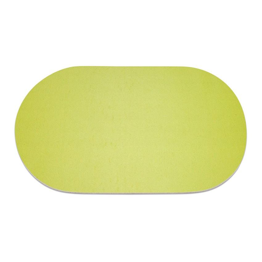 9 sets de table ovale Fashion citron vert aspect lisse