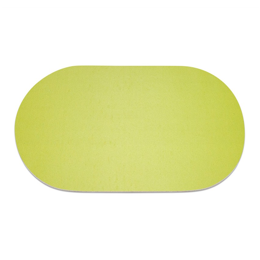 9 sets de table ovale Fashion citron vert aspect lisse