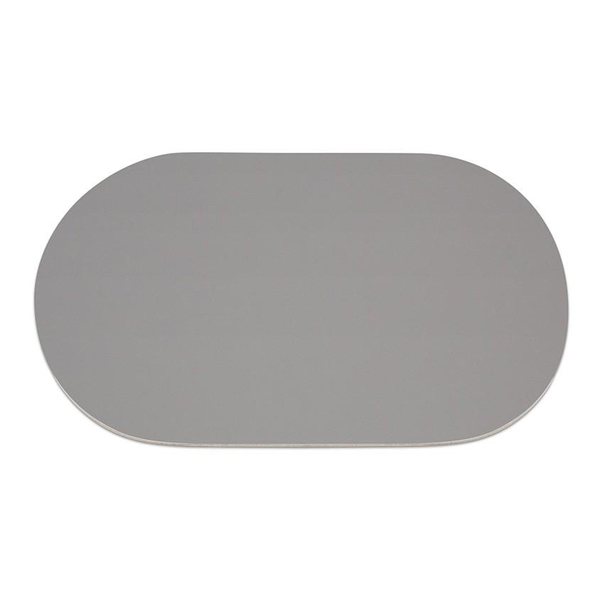9 sets de table ovale Fashion gris aspect lisse