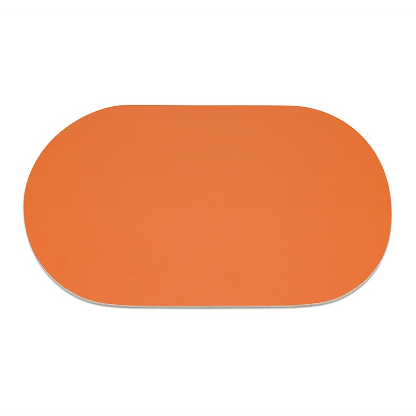 9 sets de table ovale Fashion orange aspect lisse