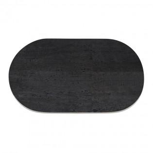 9 sets de table ovale en liège noir