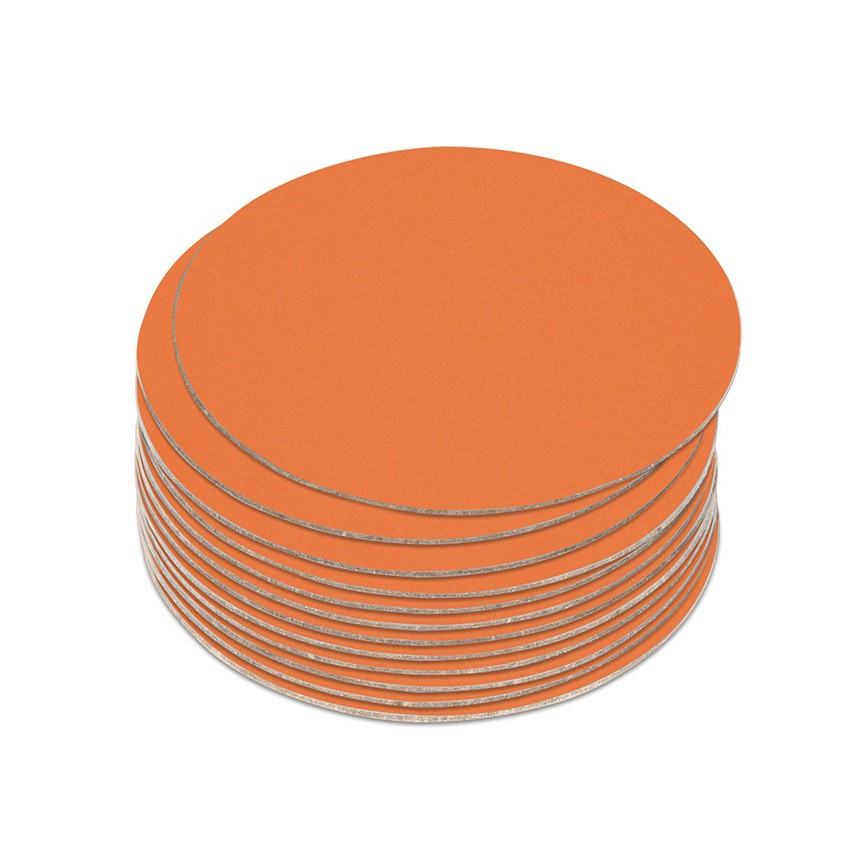 10 dessous de verres Fashion orange aspect lisse