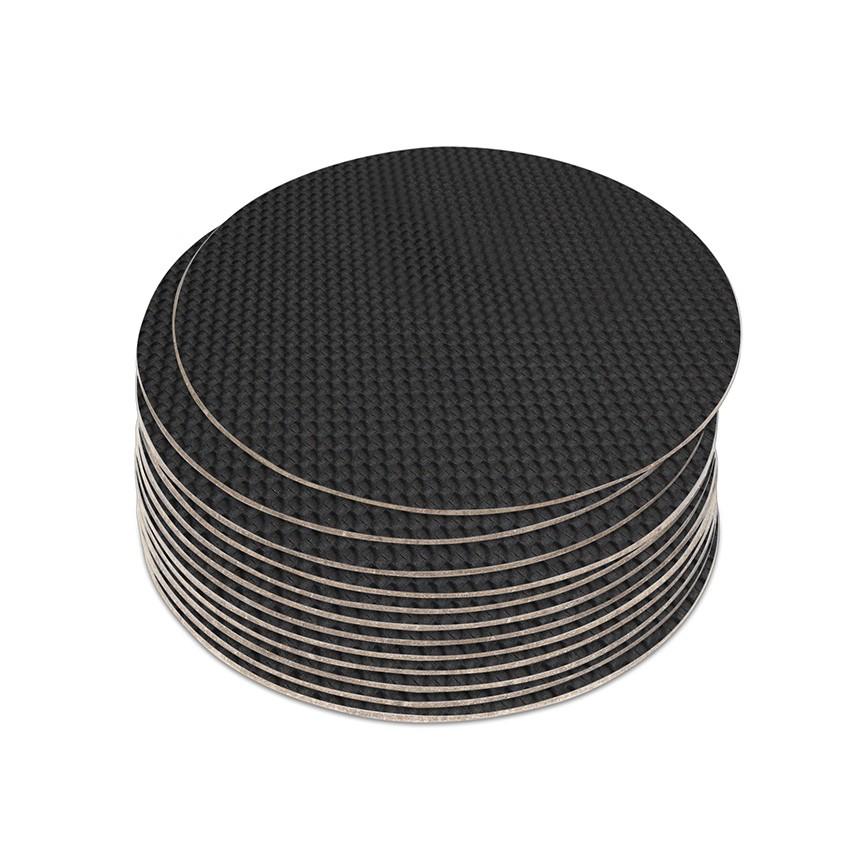 10 dessous de verres PVC noir aspect carbon