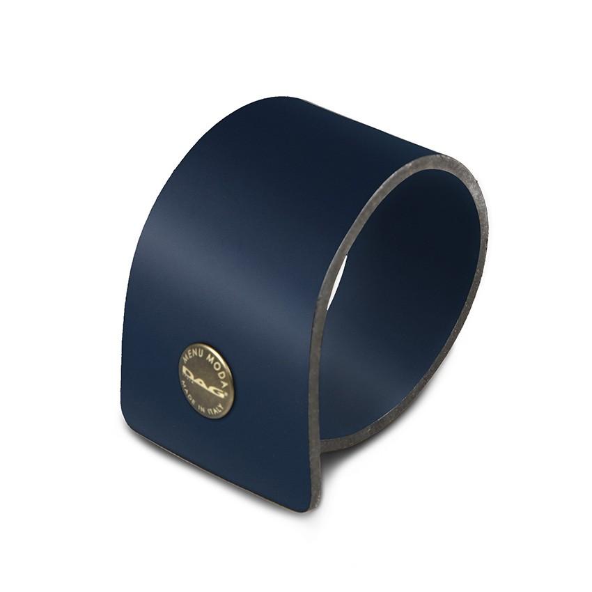 10 ronds de serviette Fashion bleu aspect lisse