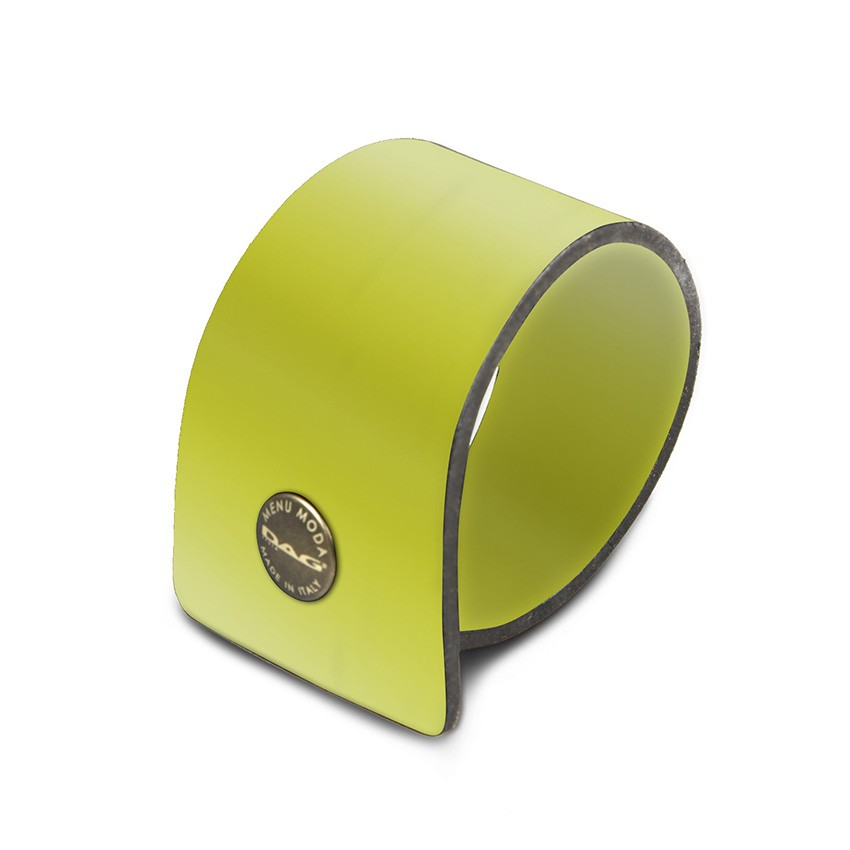 10 ronds de serviette Fashion citron vert aspect lisse