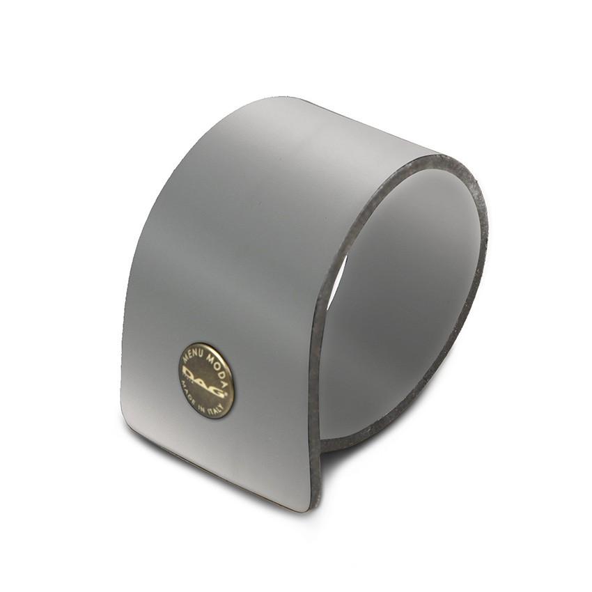 10 ronds de serviette Fashion gris aspect lisse