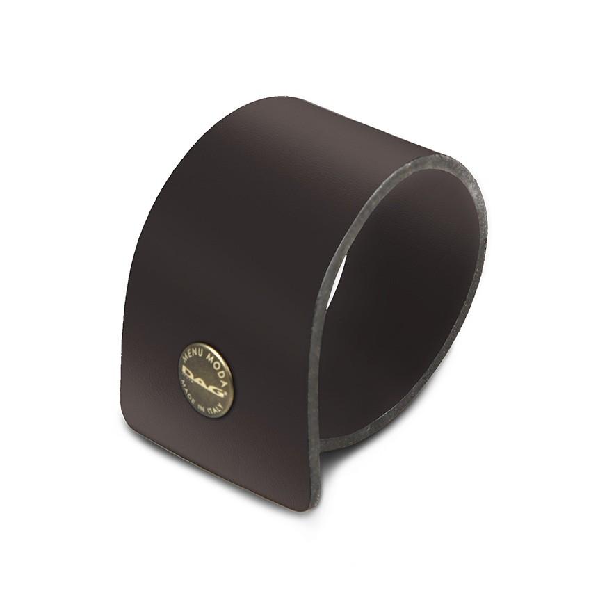 10 ronds de serviette Fashion marron aspect lisse