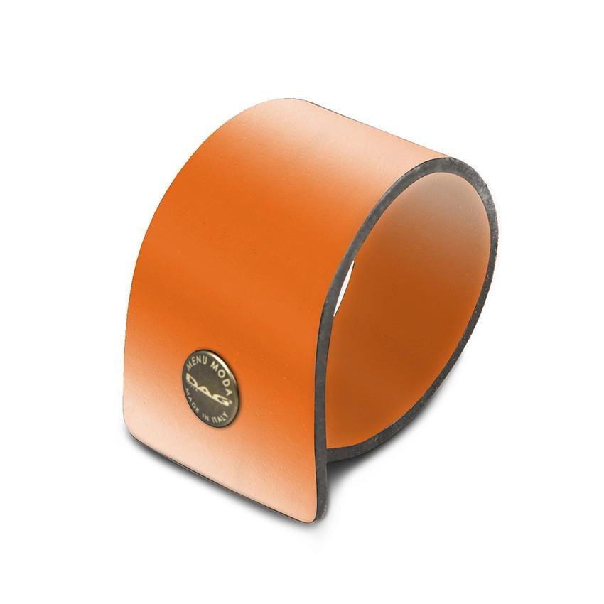 10 ronds de serviette Fashion orange aspect lisse