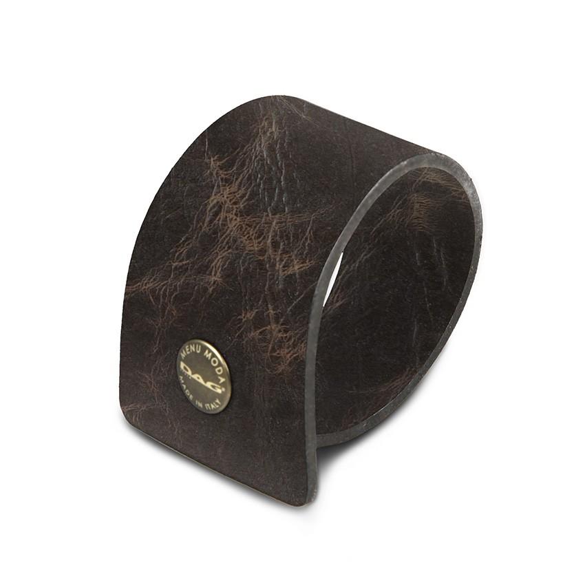 10 ronds de serviette Ecologique marron aspect vintage épais