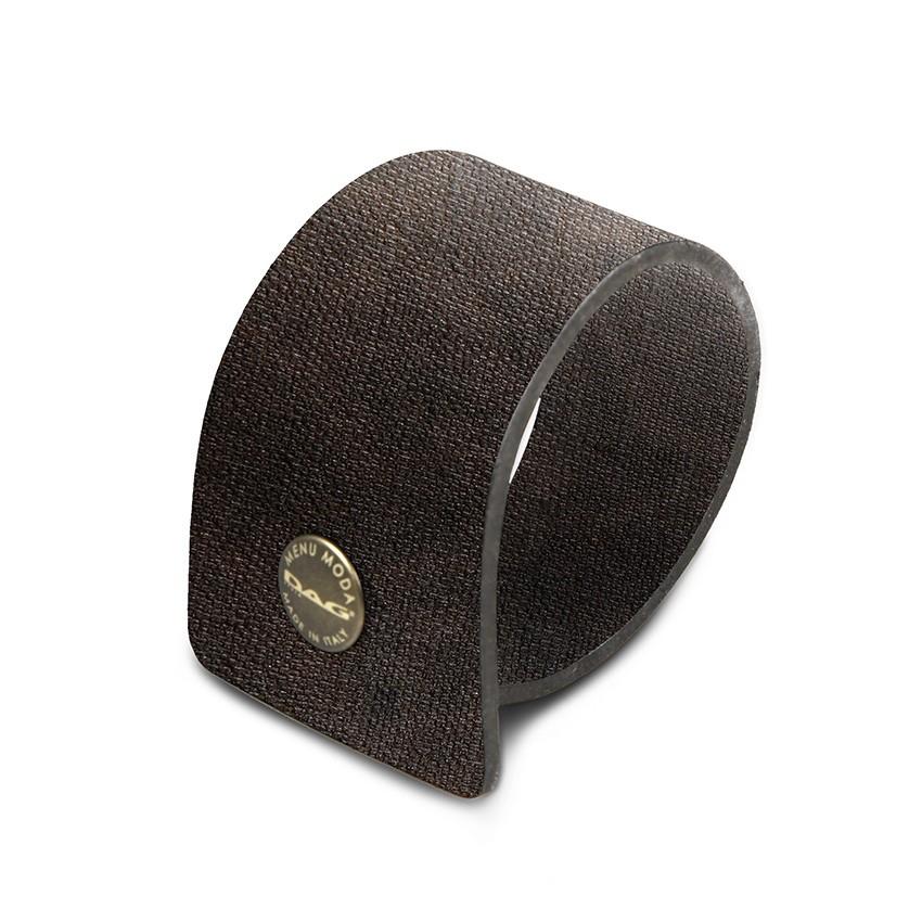 10 ronds de serviette en PVC Marron aspect jute