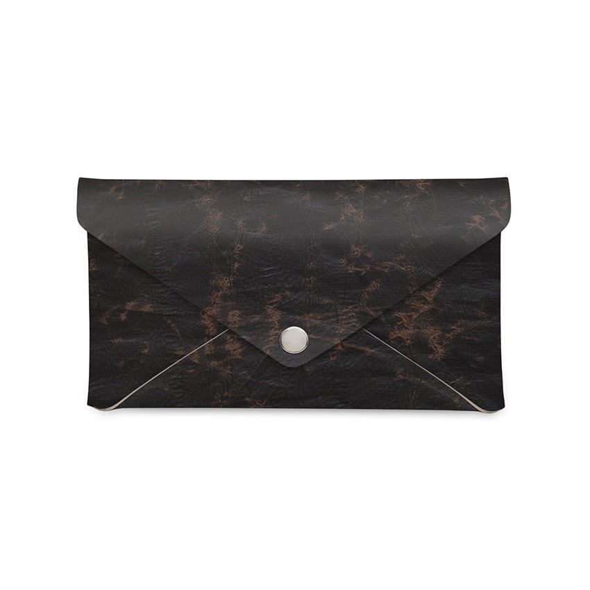 Porte-addition CLUTCH Ecologique marron aspect vintage épais