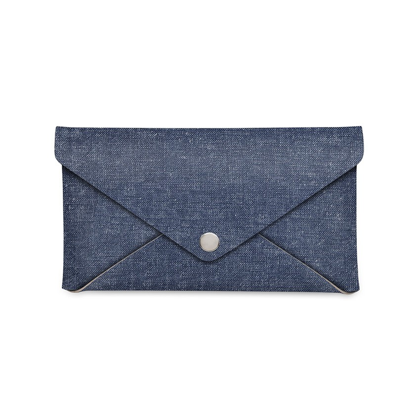 Porte-addition CLUTCH en PVC bleu aspect jean's