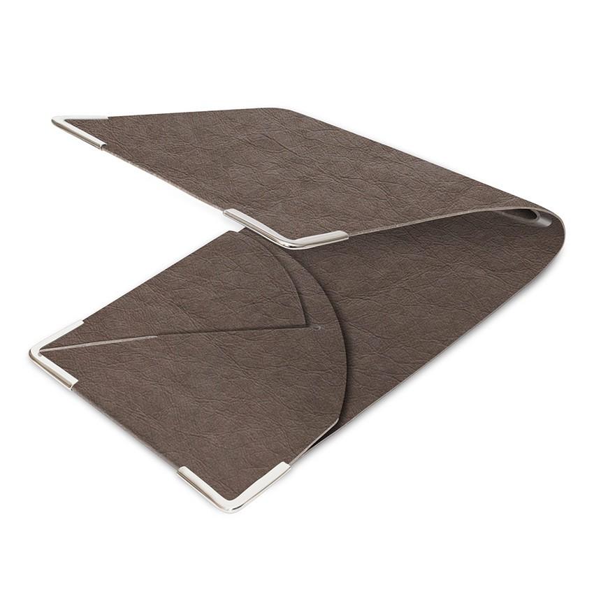 Porte commande Ecologique marron aspect fibre lisse