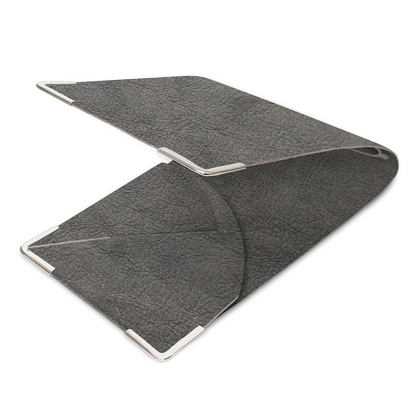 Porte commande Ecologique gris aspect peau