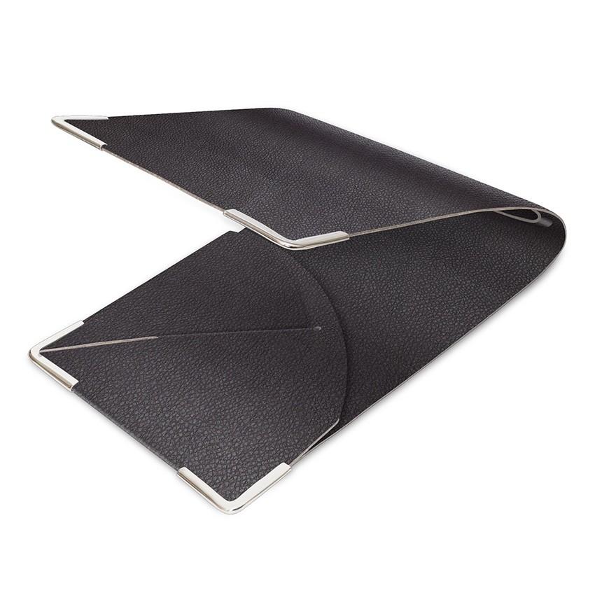 Porte commande en PVC marron aspect lisse