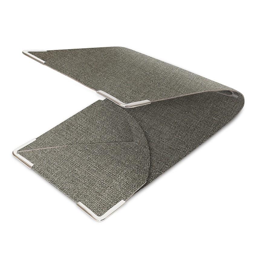 Porte commande en PVC gris aspect jute
