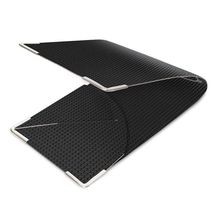 Porte commande en PVC noir aspect carbon