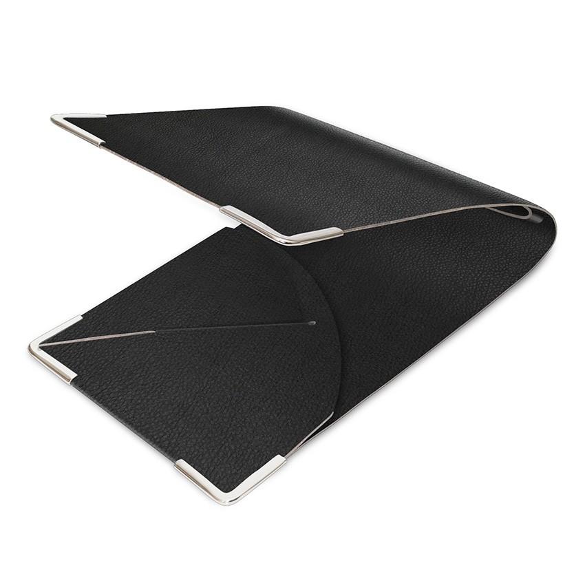 Porte commande en PVC noir aspect lisse