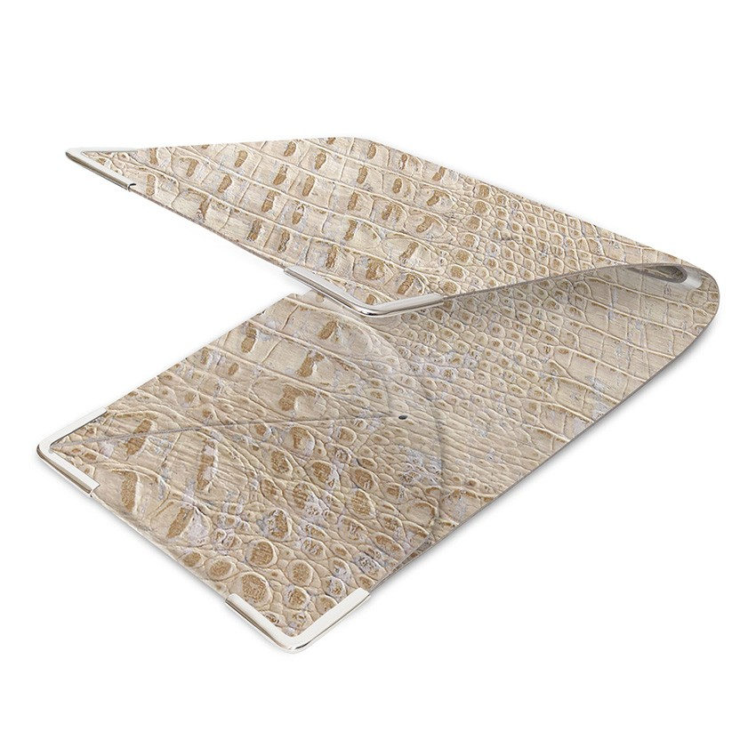 Porte commande en liège blanc aspect crocodile