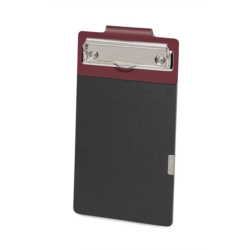Porte commande EASY en cuir bordeaux aspect lisse