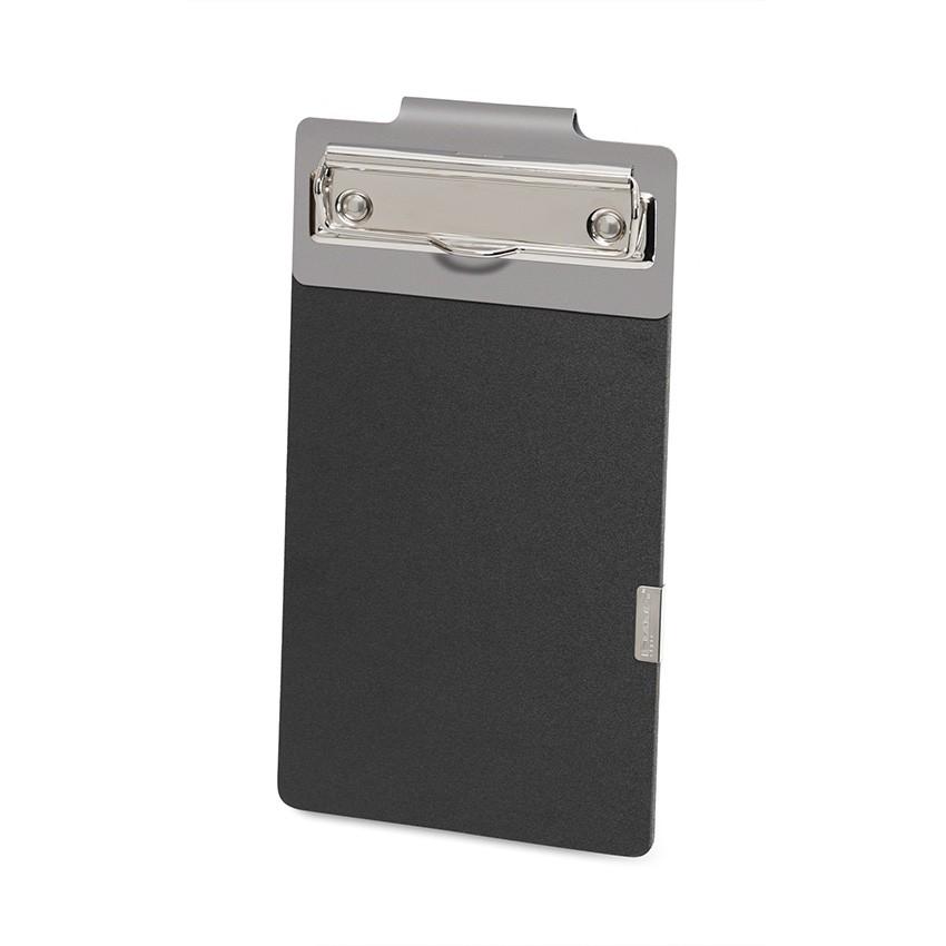 Porte commande EASY en cuir gris aspect lisse