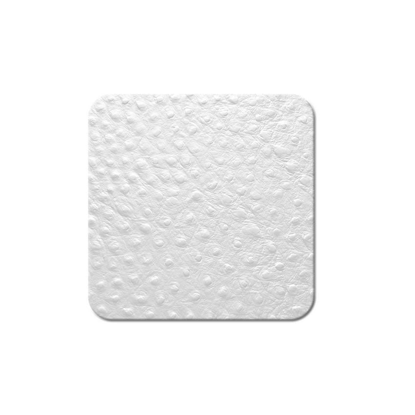 10 dessous de verres Fashion blanc aspect peau d'autruche
