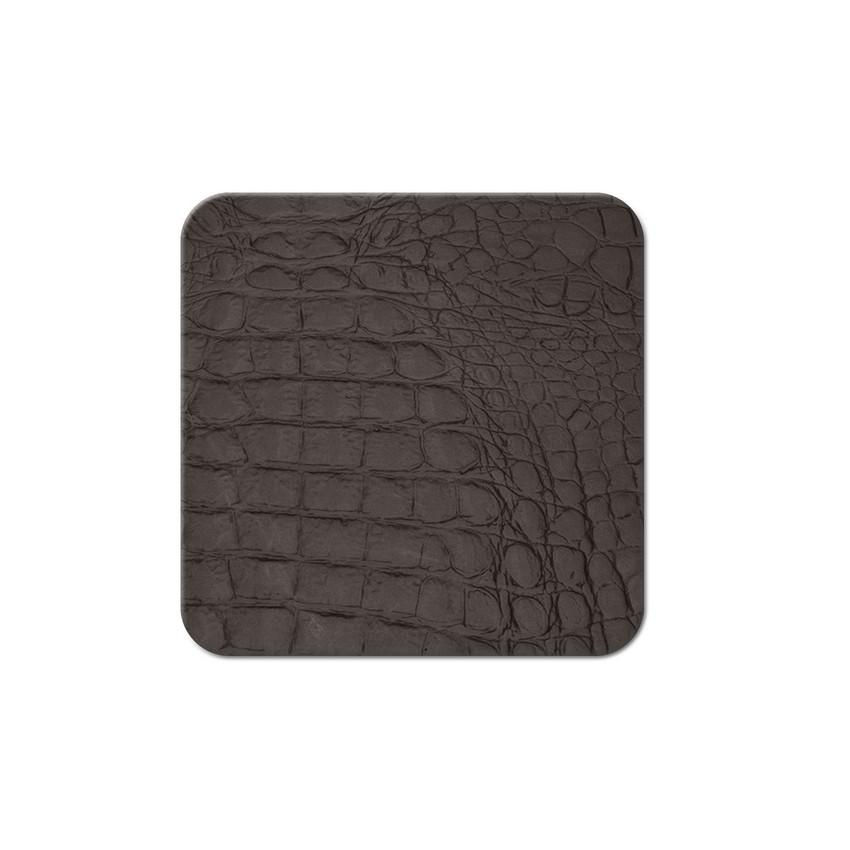 10 dessous de verres Fashion marron aspect crocodile