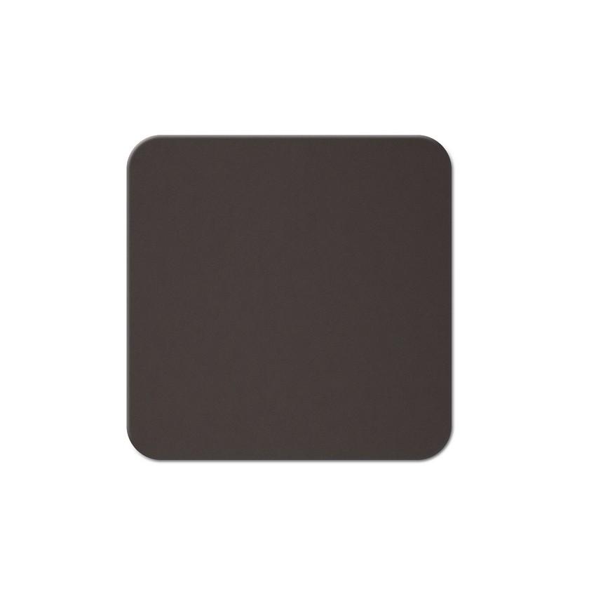 10 dessous de verres Fashion marron aspect lisse