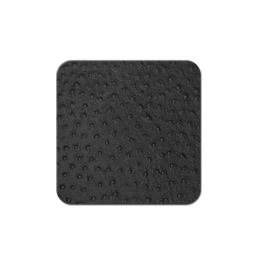 10 dessous de verres Fashion noir aspect peau d'autruche