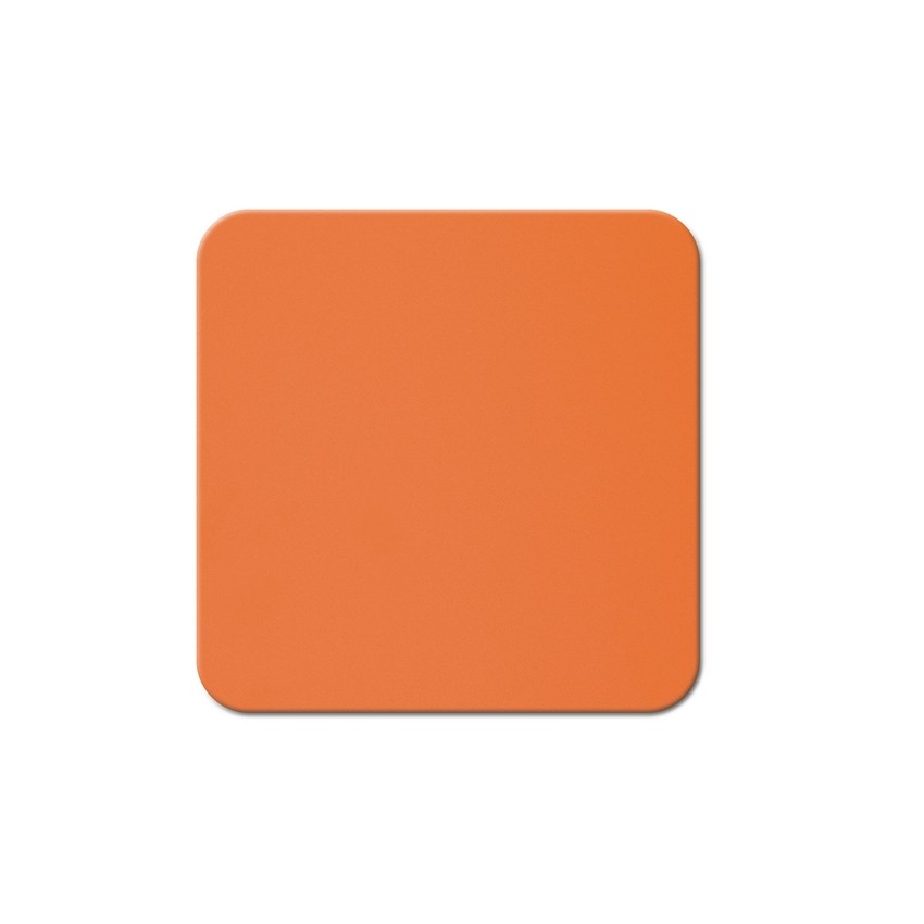 10 dessous de verres Fashion orange aspect lisse