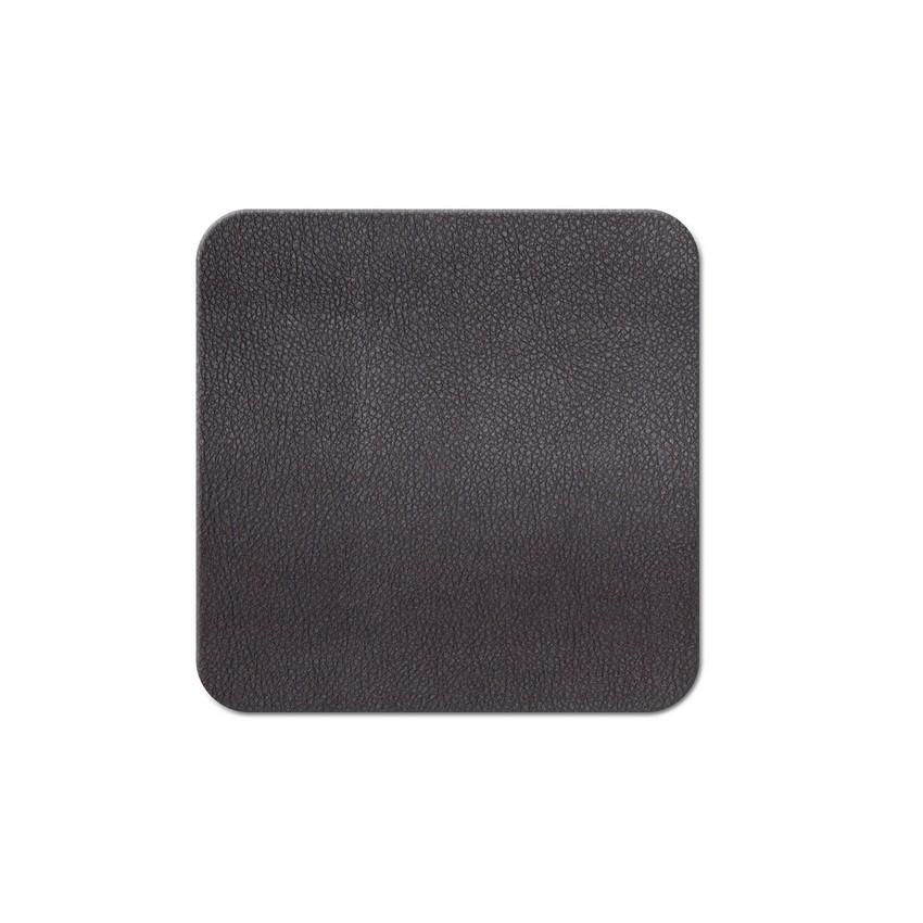 10 dessous de verres PVC marron aspect lisse