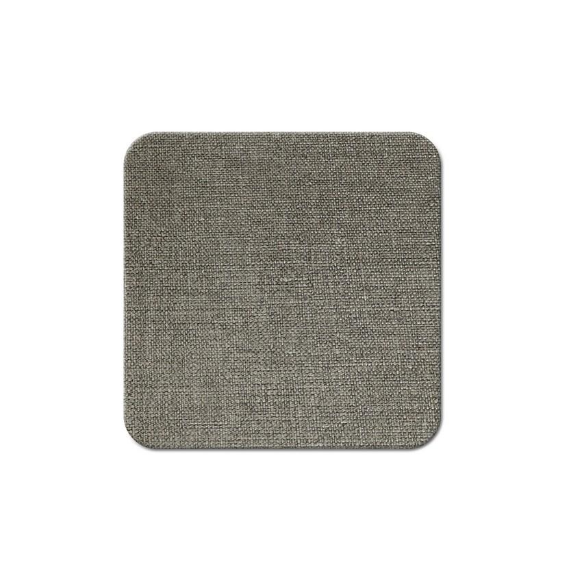 10 dessous de verres PVC gris aspect jute