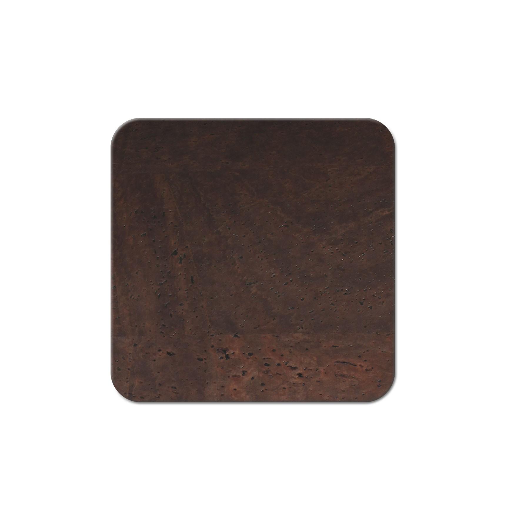 10 dessous de verres liège marron