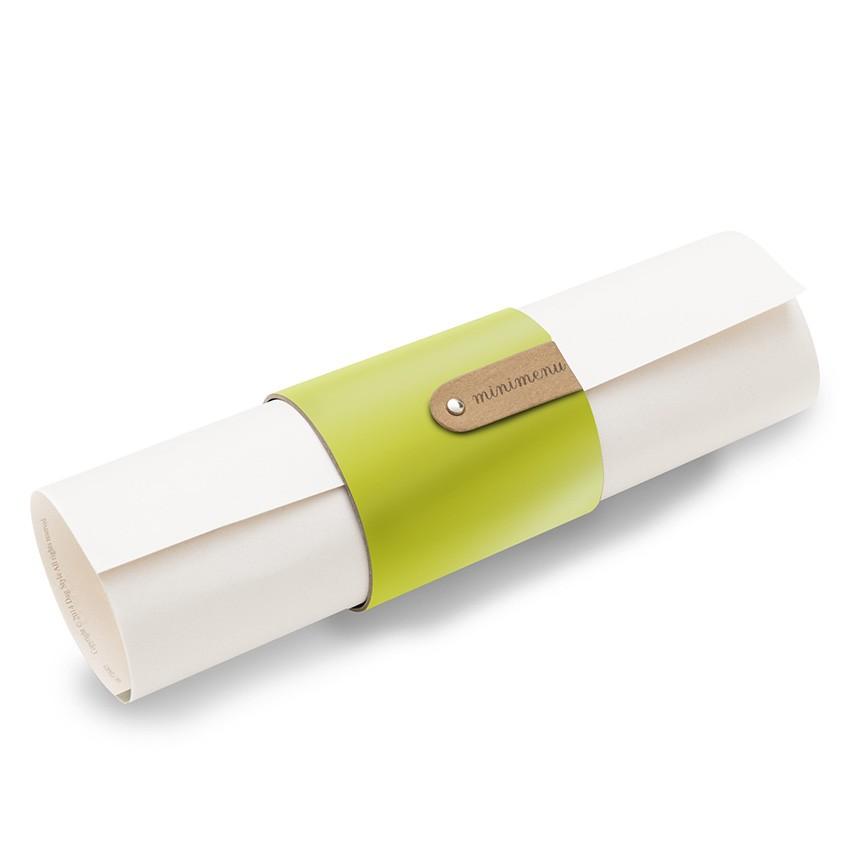 5 porte-menus ou porte-serviettes Fashion citron vert aspect lisse
