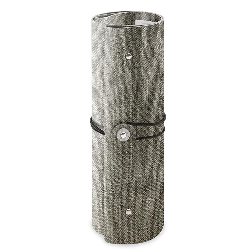 Protège menu A4 enroulé PVC gris aspect jute