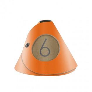 10 cônes de table Fashion orange aspect lisse