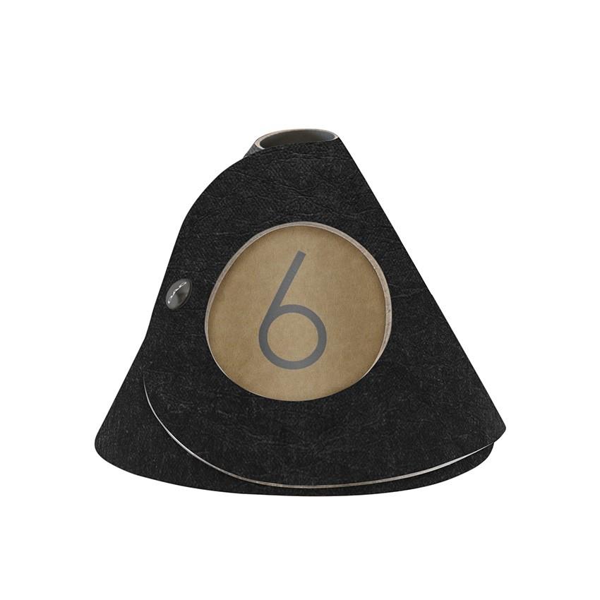 10 cônes de table Ecologique noir aspect fibre lisse