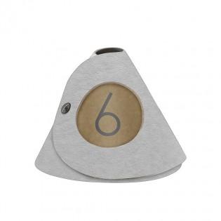10 cônes de table Ecologique gris aspect fibre lisse
