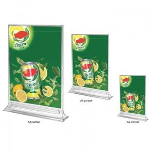 Porte menu vertical Plexi T