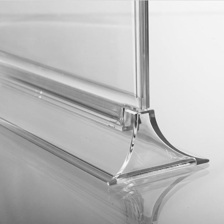 Porte menu vertical transparent