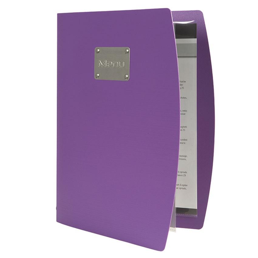Protège-menus Rio violet entrouvert