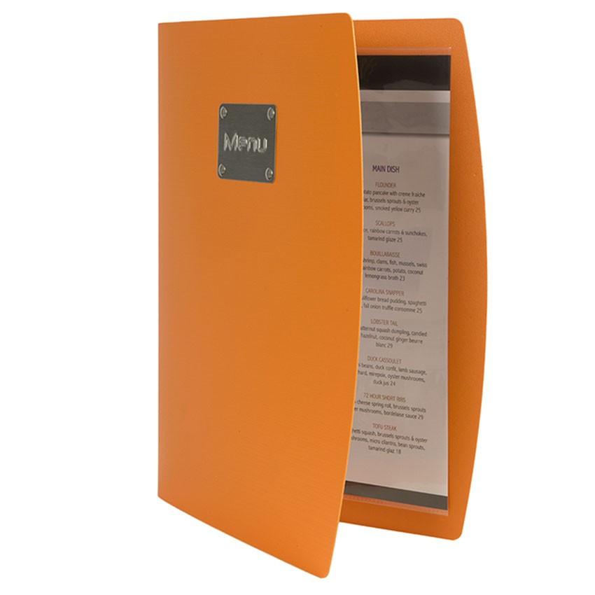 Protège-menus Rio Orange entrouvert